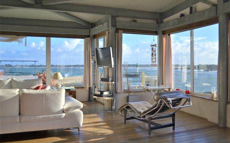 location Bretagne villa Mélanie vue mer piscine chauffée plage à pied