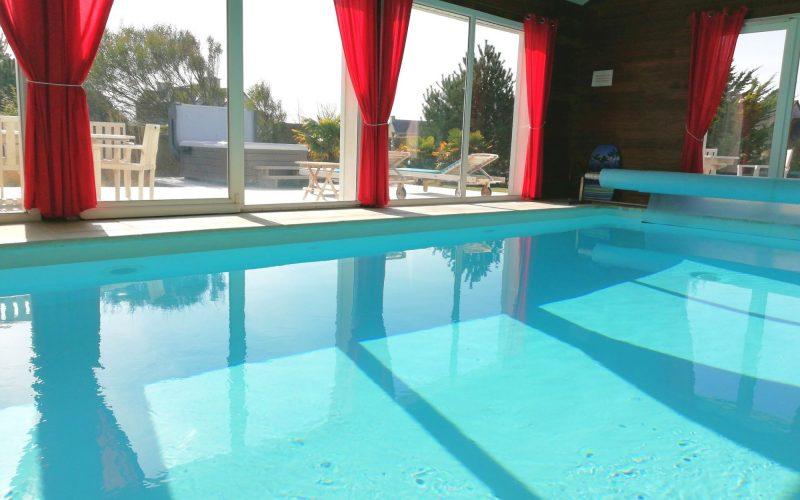 la piscine chauffée à 30 °