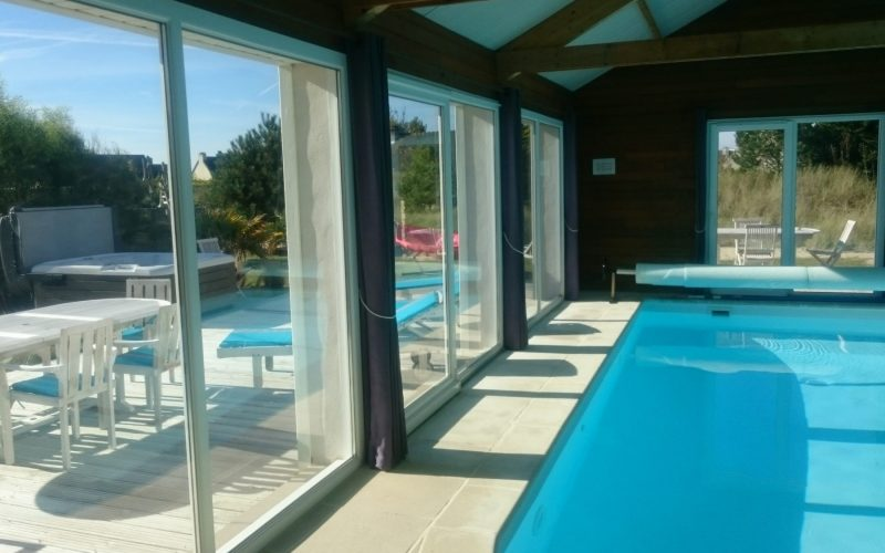 vacances en Bretagne villa des dunes piscine à 30 °