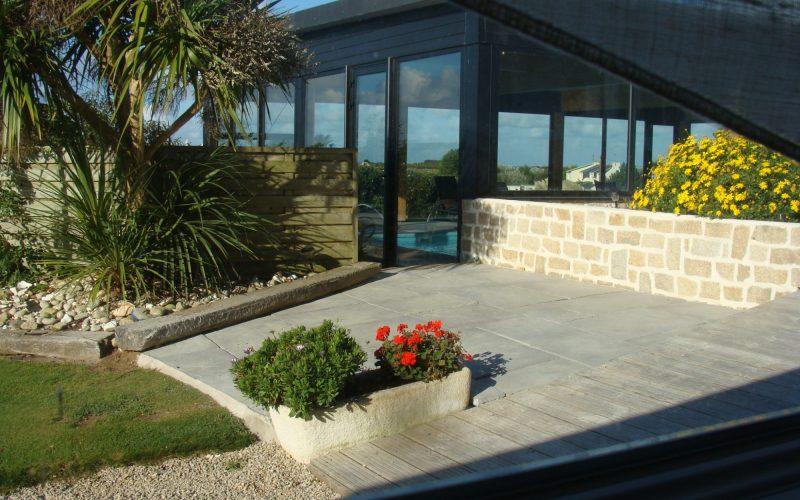 location vacances Bretagne vue piscine
